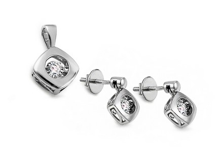 Diamant Set 0,200 ct Dancing Diamonds