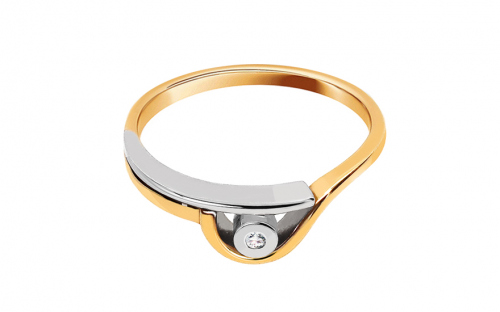 Verlobungsring Engagement of love mit Brillanten 0,015 ct - CSBR04