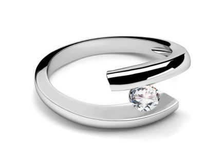 Verlobungsring mit Diamanten 0,090 ct Lines Of Love 3