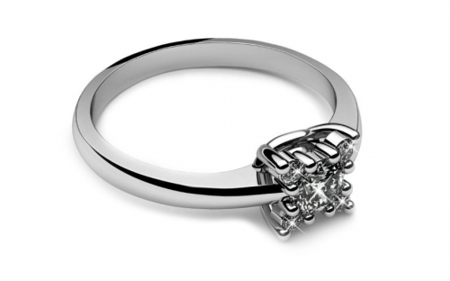Verlobungsring mit Diamanten 0,190 ct Key To Heart 8