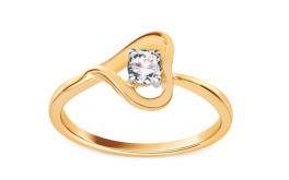 Verlobungsring mit Diamanten 0,120 ct Diamond Heart