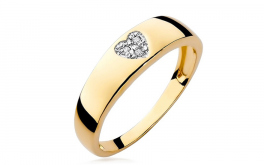 Diamantring Heart 0,0090 ct