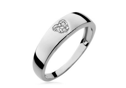 Diamantring Heart 0,0230 ct