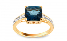 Diamantring mit London Blue Topas Monique