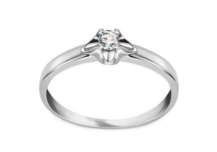 Diamantring Round 0,080 ct