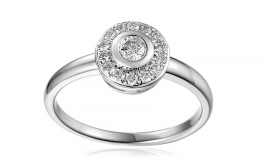 Gold Verlobungsring mit Diamanten 0,200 ct Karry