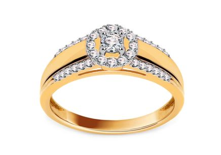 Gold Verlobungsring mit Diamanten 0,250 ct Tailyn 2