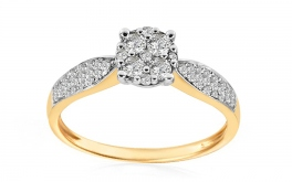 Gold Verlobungsring mit Diamanten 0,380 ct Sharon