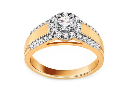 Gold Verlobungsring mit Diamanten 0,610 ct Tailyn