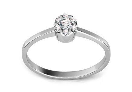 Verlobungsring Kelly mit Diamanten 0,100 ct white