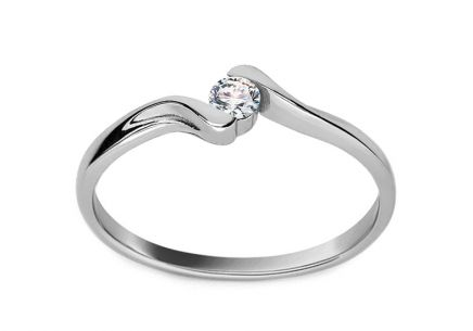 Verlobungsring mit Diamanten 0,090 ct Lines Of Love 7