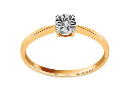 Verlobungsring mit Diamant 0,010 ct Love Angel