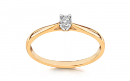 Verlobungsring mit Diamanten 0,090 ct Estelle young