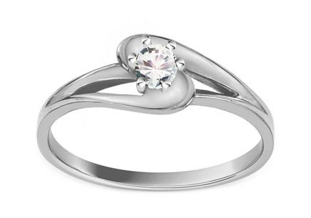 Verlobungsring mit Diamanten 0,130 ct Crown white