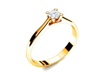 Verlobungsring mit Diamanten 0,090 ct Royal Heart 10 Yellow