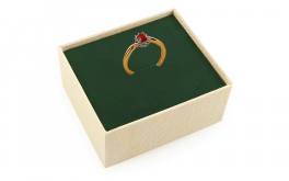 Rubin-Ring mit Diamanten 0,110 ct Brienne