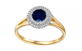 Saphir Ring mit Diamanten Tyene