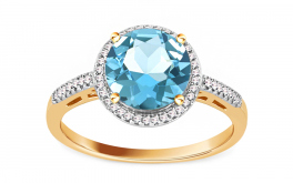 Topas Ring mit Diamanten 0,090 ct Maricela