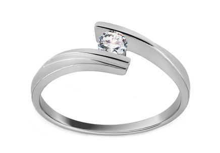 Verlobungsring mit Diamanten Combination of love 0,110 ct white