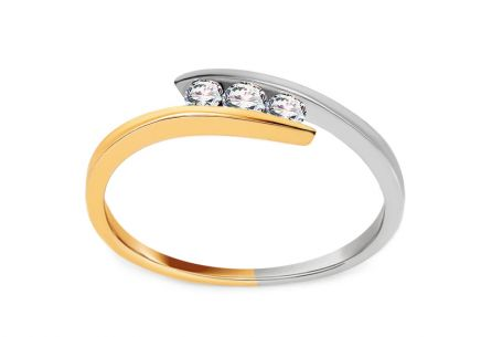 Verlobungsring Triple of Love mit Diamanten 0,110 ct