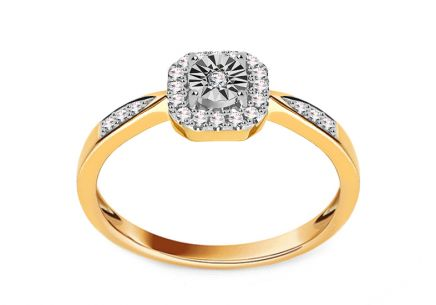 Gold Verlobungsring mit Diamanten 0,110 ct Valary