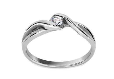 Verlobungsring Loving moments mit Brillanten 0,080 ct white