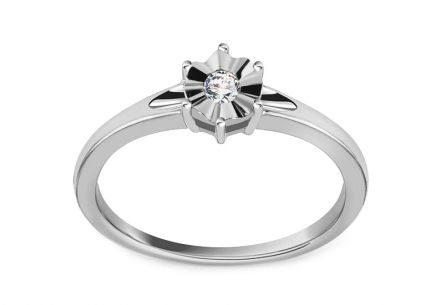 Verlobungsring mit Diamanten 0.060 ct In Love
