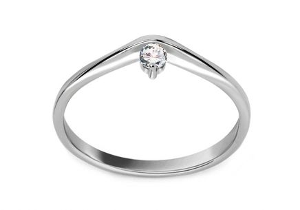 Verlobungsring mit Diamanten 0,100 ct Lines Of Love 9