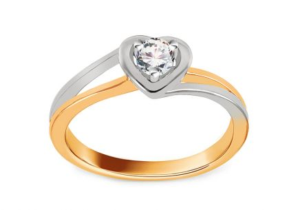 Verlobungsring mit Diamanten 0,150 ct Sweet Heart